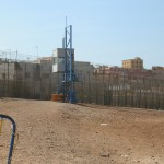 Melilla_border_fence_with_guardpost